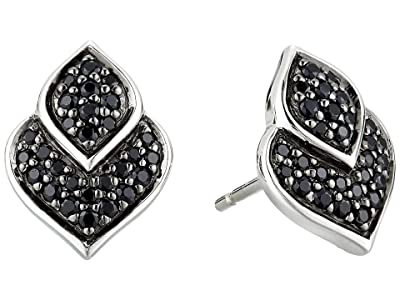 John Hardy Legends Naga Stud Earrings with Black Sapphire and Black Spinel (Silver) Earring