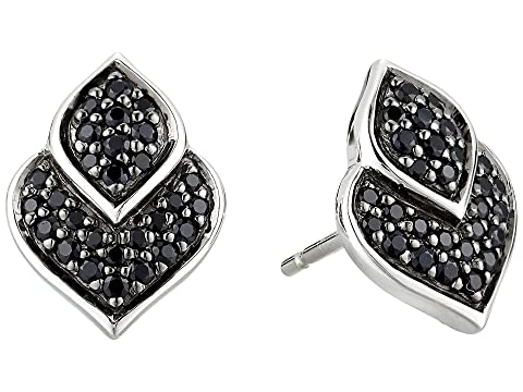 John Hardy Legends Naga Stud Earrings with Black Sapphire and Black Spinel