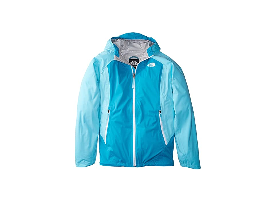 The North Face Kids Allproof Stretch Jacket (Little Kids/Big Kids) (Blue Curacao/Algiers Blue/TNF White) Girl