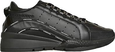dsquared Scarpe Uomo Low Top 551 Sneakers in Pelle SNM0122 01503113 M436 Nero 39