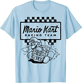 Racing Team Outlined Mario Drift Graphic T-Shirt