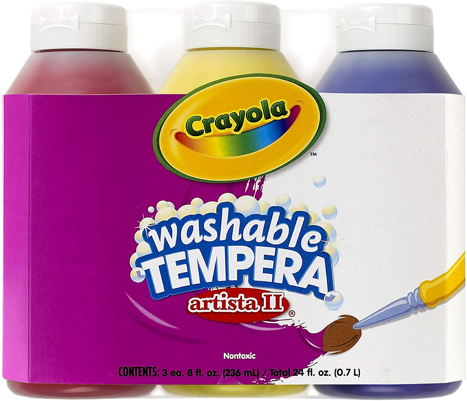 Crayola; Online limited product Arista II Washable Tempera Colors Red All items free shipping Paint; Primary