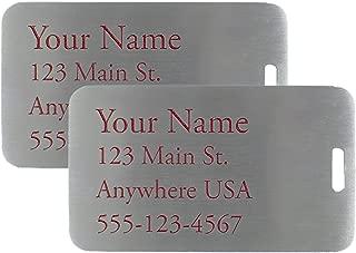 custom metal luggage tags