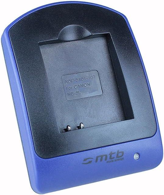 Cargador (Micro-USB sin Cables/adaptadores) NB-6L para Canon IXUS 105 310 HS. / Powershot SX530 HS SX600 HS. - Ver Lista