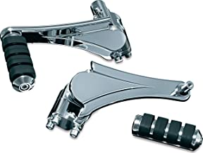 Kuryakyn 4353 Motorcycle Footpegs: Adjustable Passenger Pegs for 2010-19 Harley-Davidson Motorcycles with Fixed Mounts, Chrome, 1 Pair