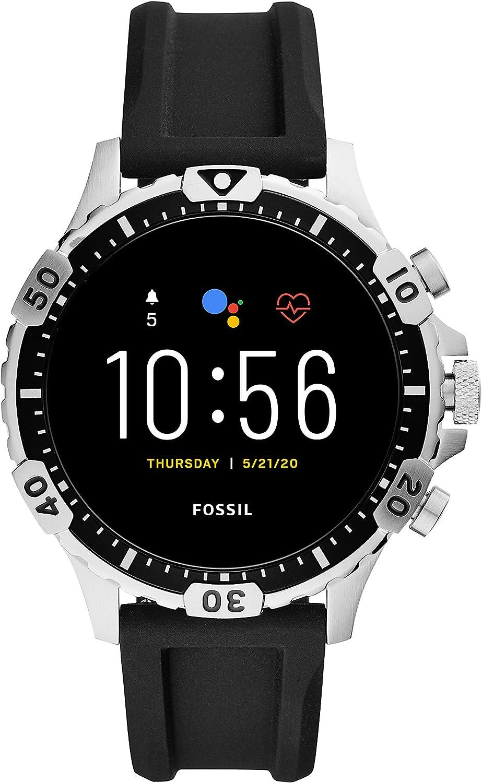 Fossil Gen 5 Garrett Stainless Steel Touchscreen Smartwatch with Speaker, Heart Rate, GPS, NFC, and Smartphone Notifications