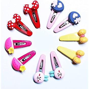 Drishti Plastic Hair Tic Tac Clips For Girls Multi color And Multi-Design 10 pcs 5 Pair (Random Selected Design)