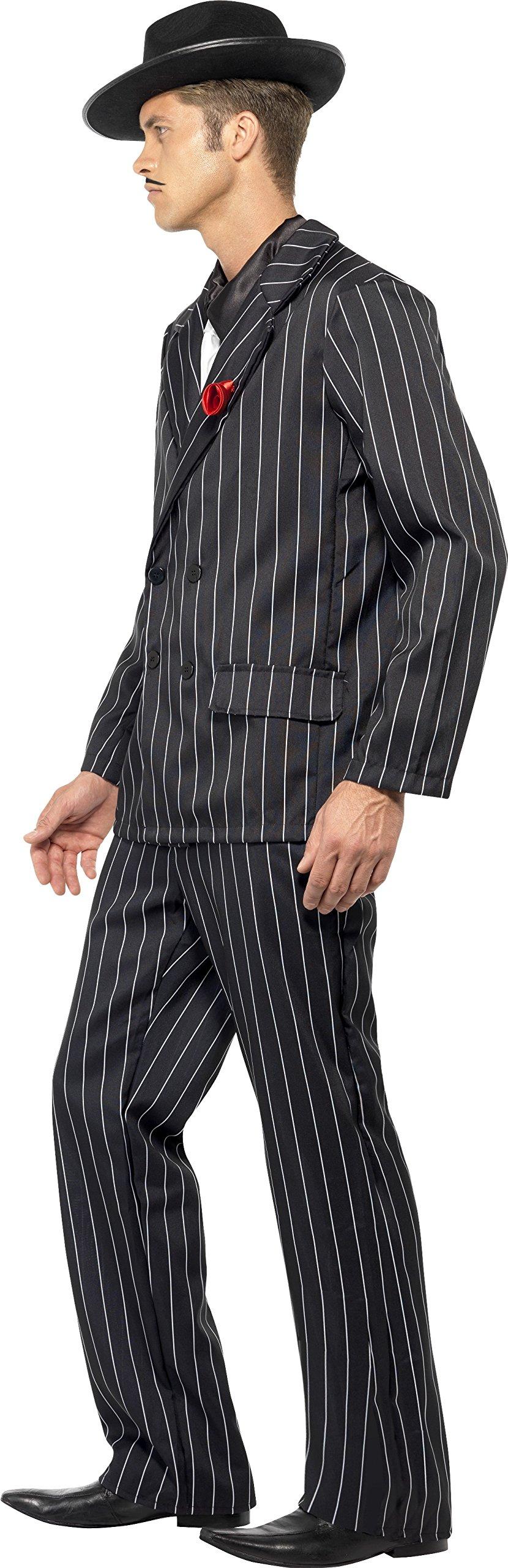 SmiffyS 25603L Traje De Hombre Con Chaqueta, Pantalones, Pechera De Camisa Y Corbata, Negro, L - Tamaño 42