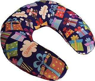 RADANYA Text Digital Printed Velvet Premium Supercomfy U Shaped Pillow Soft Comfort Neck Support Car Home Nursing Cushion Travel Accessories-Multi