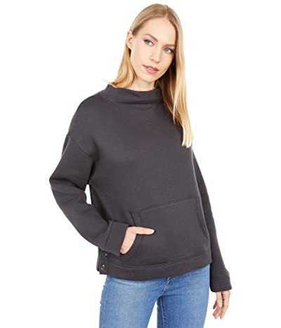 Madewell Turtleneck Sweatshirt (Black Coal) Women