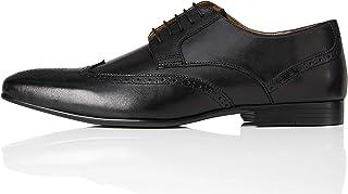 Marca Amazon - find. Zapato Blucher de Piel con Calados para Hombre