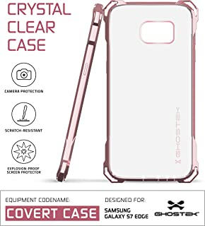 Ghostek S7 Edge Case, Covert Series for Samsung Galaxy S7 Edge Premium Impact Protective Armor Case Cover | Clear TPU | Explosion-Proof Screen Protector | Ultra Fit (Peach)