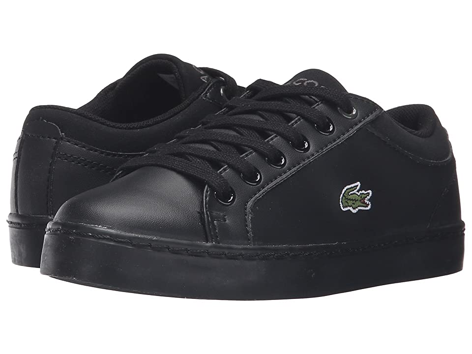 Lacoste Kids Straightset (Little Kid) (Black) Kid