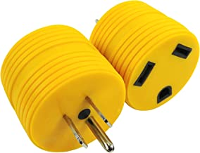 Leisure Cords Power Adapter 3 prong 15 amp Male to 30 amp Female RV Camper Generator Plug Outdoor Electrical Power Converter (15 Male - 30 Female)
