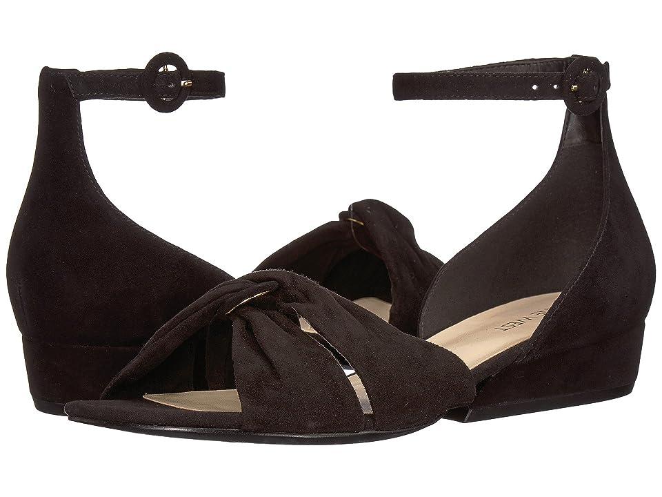 Nine West Lumsi Sandal (Black Isa Kid Suede) Women's Sandals