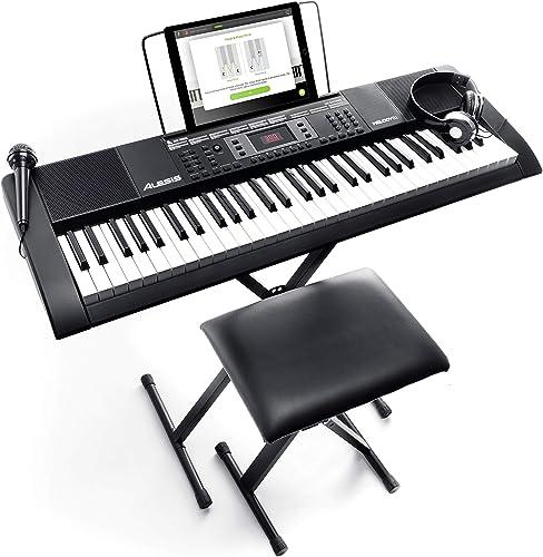 Alesis Melody 61 MKII - Clavier Électronique Portable 61 Touches avec des Enceintes Intégrées, Casque, Micro, Stand d...