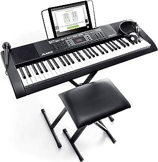 Alesis Melody 61 MKII - Clavier Électronique Portable 61 Touches avec des Enceintes Intégrées, Casque, Micro, Stand de Pia...