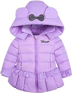 (ケイミ)KEIMI キッズ ダウンコート 女の子 ダウン ジャケット 長袖 中綿ジャケット ブルゾンコート アウター フード付き ガールズ 子ども アウター 防寒 保温 通園 通学 旅行 お出かけ可愛い おしゃれ