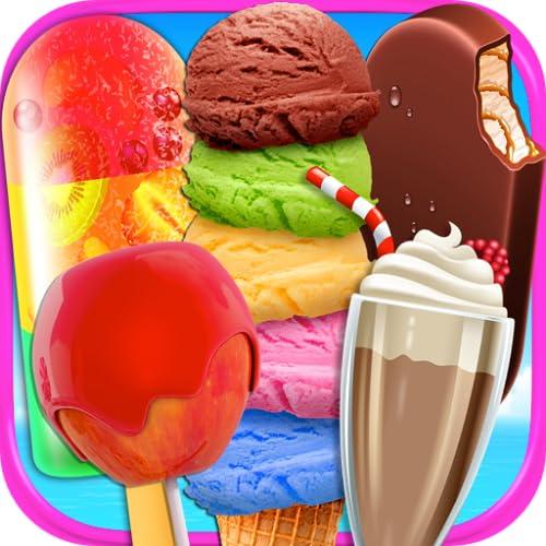 Beach Food Maker - Frozen Ice Cream Bars, Popsicles, Snow Cones, Candy Apples, Milkshakes, & Ice Cream Truck Games FREE