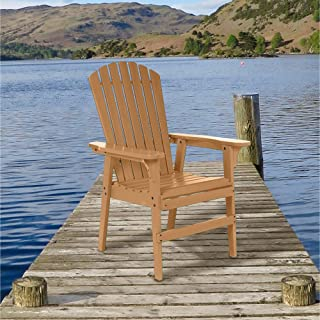 Leigh Country The Easy to Get Out of Painted Acacia Wood Adirondack Chair - Brown