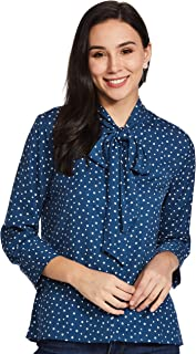 Amazon Brand - Symbol Women's Starred Loose fit Shirt