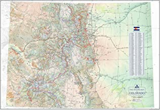 The Hiker's Map of Colorado - Wall Poster Map, by Outdoor Trail Maps LLC