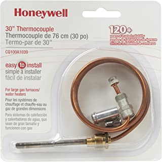 Honeywell CQ100A1039/U CQ100A1039 Replacement Thermocouple for Gas Furnaces, Boilers and Water Heaters, 30-Inch
