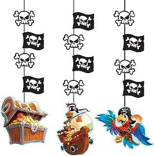 """Creative Converting Treasure Island Corte colgante de temática pirata, 40"""" - 3 piezas, Papel, multicolor"""