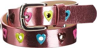 Playshoes Flickor PU hjärta rosa bälte