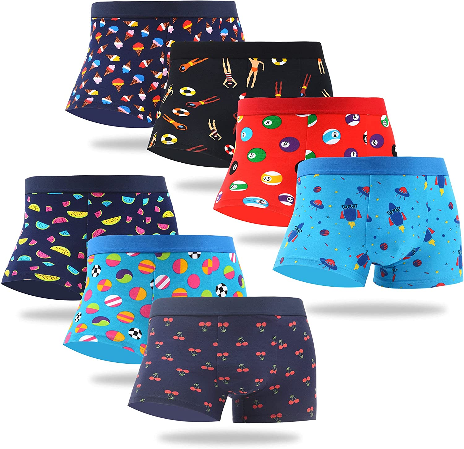 WeciBor Men's Trunks Underwear Cool Funny Easy-to-use Colorful Novelty Free Shipping Cheap Bargain Gift Cotto