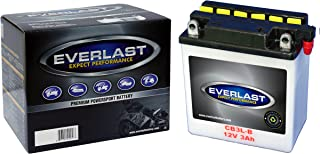 EverLast CB3L-B 12V Conventional Battery with Acid Pack (3 15/16 L X 2 1/4 W X 4 5/16 H)