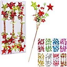 """17""""Christmas Tree Decorations Beads Sequin Electroplating Five-Pointed StarPick,Christmas Tree Decorations for Home Vase ..."""