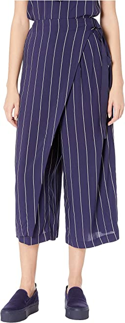 Striped D-Ring Trousers