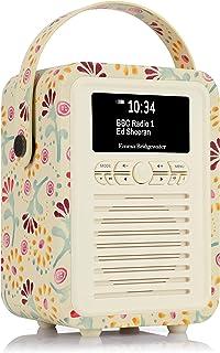 VQ Retro Mini DAB & DAB+ Digital Radio with FM & AM, Bluetooth & Alarm Clock – Emma Bridgewater Buttons, (VQ-Mini-EBBUT/AUS)