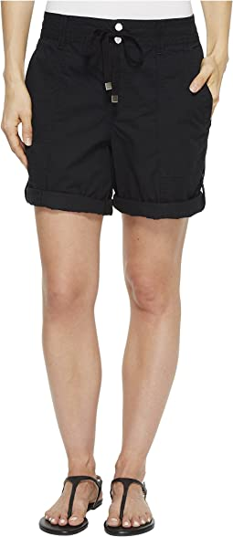Cotton Twill Drawstring Shorts