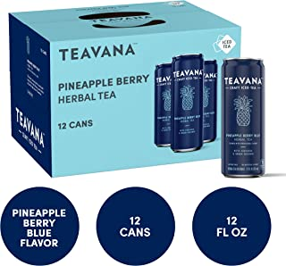 Teavana Craft Iced Tea, Pineapple Berry Blue Herbal Tea, 12 Fl. Oz. Cans (Pack of 12)