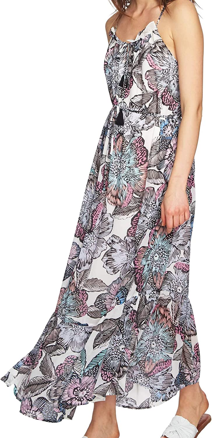 1.STATE Womens Printed Halted Maxi Dress