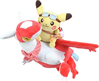 Pokemon Center: Pikachu Riding Latias Plush, 14 Inch