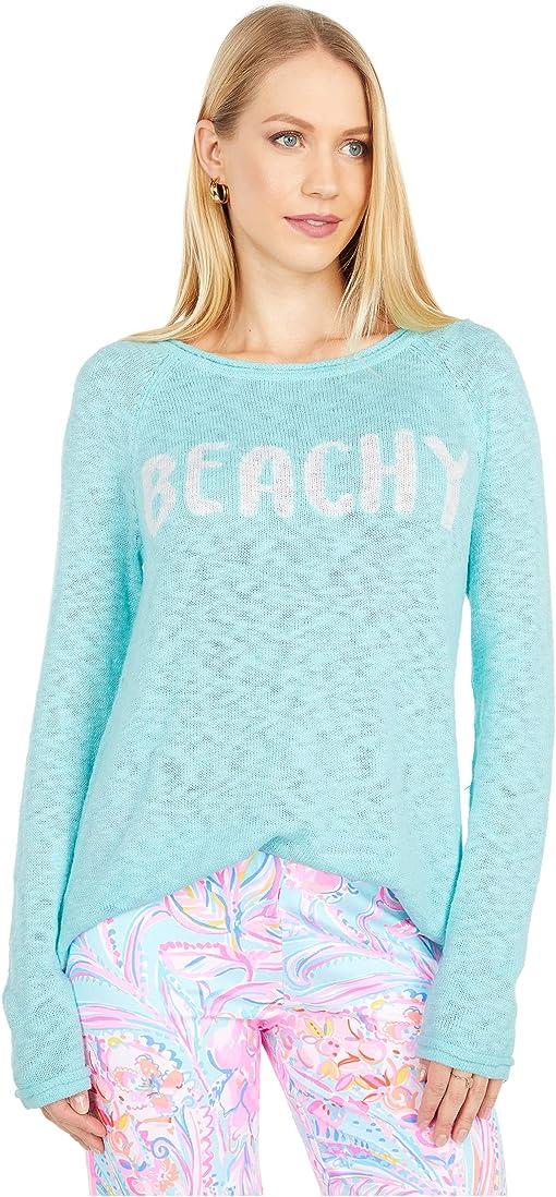 Seaglass Aqua Beachy Intarsia