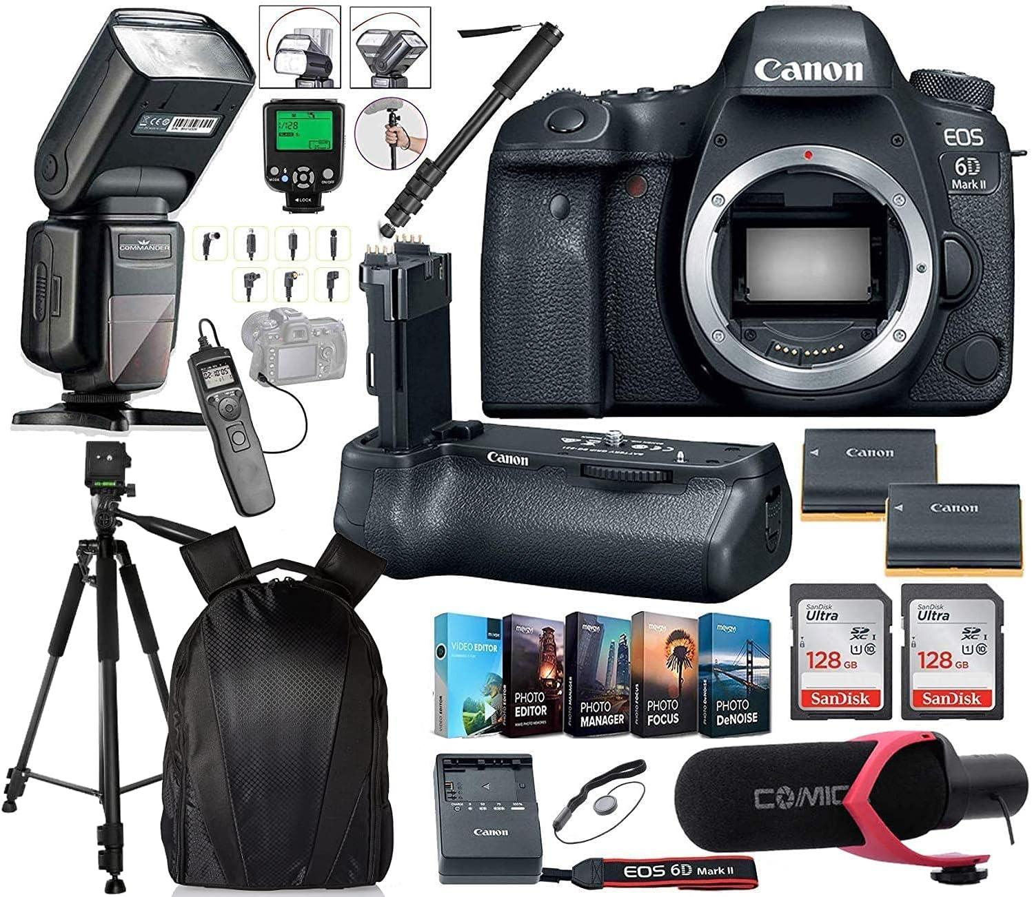 Canon EOS 6D Mark Limited Special Price II DSLR Body w Only Sale Camera Batt BG-E21