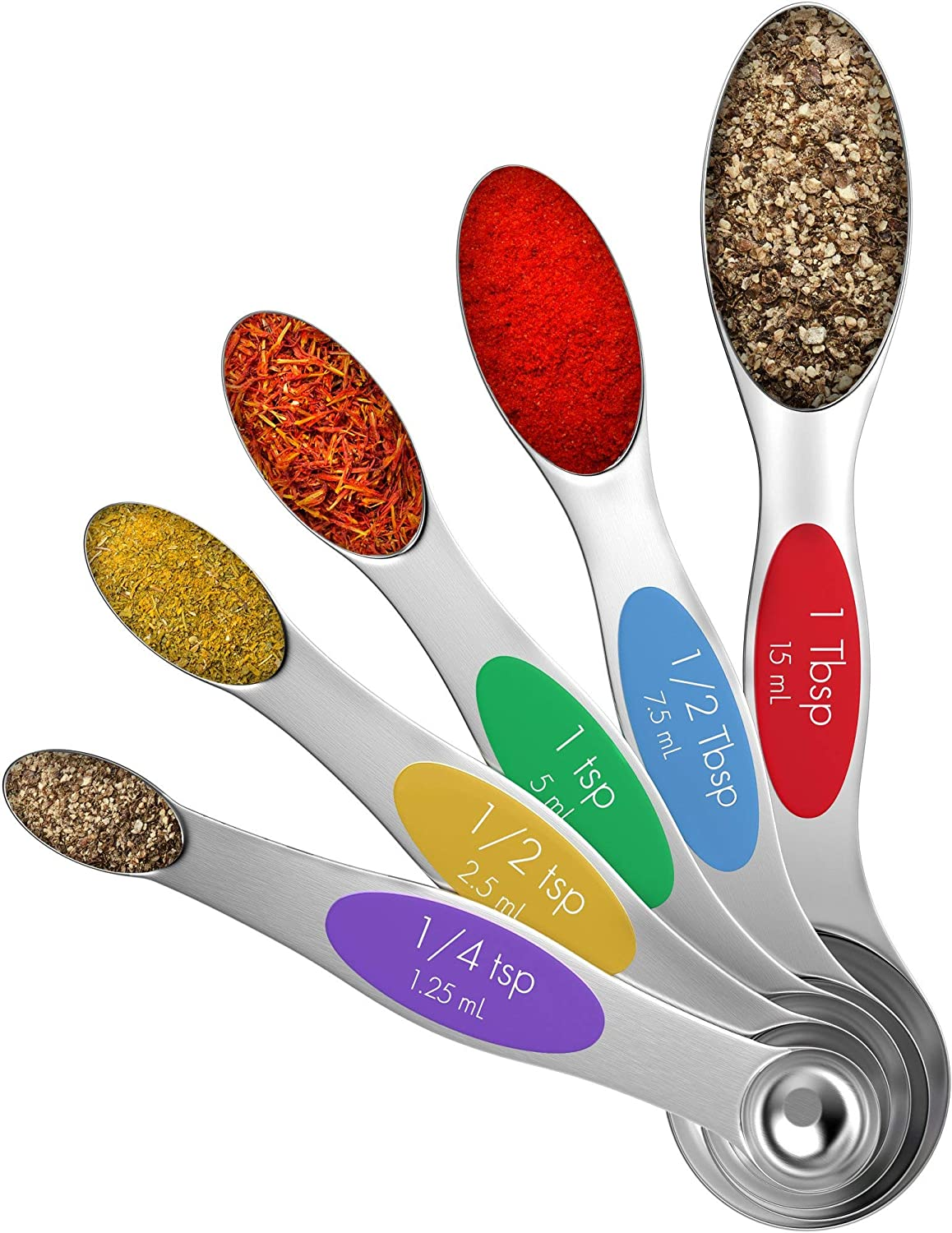Vremi Magnetic Stainless Steel Measuring Spoons Price reduction 5 - Metal National products of Set
