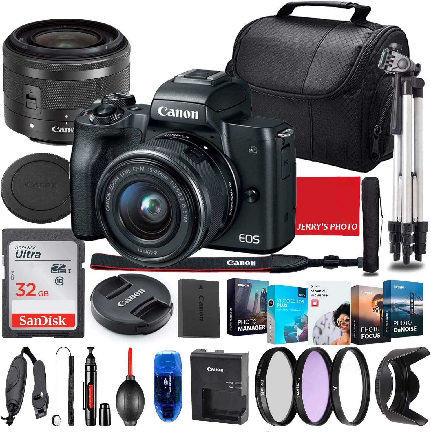 Canon EOS Limited time trial price M50 Mirrorless Camera with 15-45mm Black STM Max 90% OFF Lens Bu