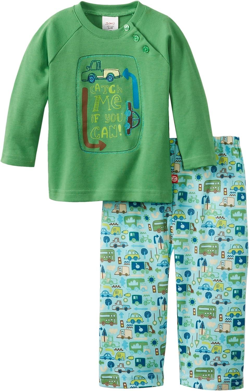 Zutano Baby Boys Catch Me Applique Shirt and Pant Set