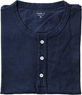 Men's Garment Dyed Premium Cotton Classic Short Sleeve Henley with Binded Neck T-Shirt Small - 2X Large