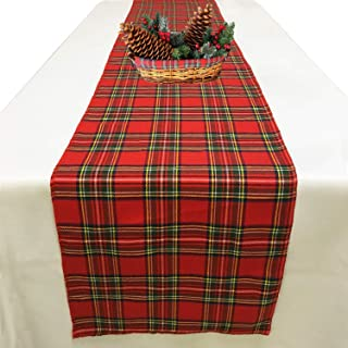 Joysail Tartan Plaid Table Runner for Home Kitchen Dinner Party Holiday Christmas Table Decorations - Scottish Christmas Table Runners 72 Inch