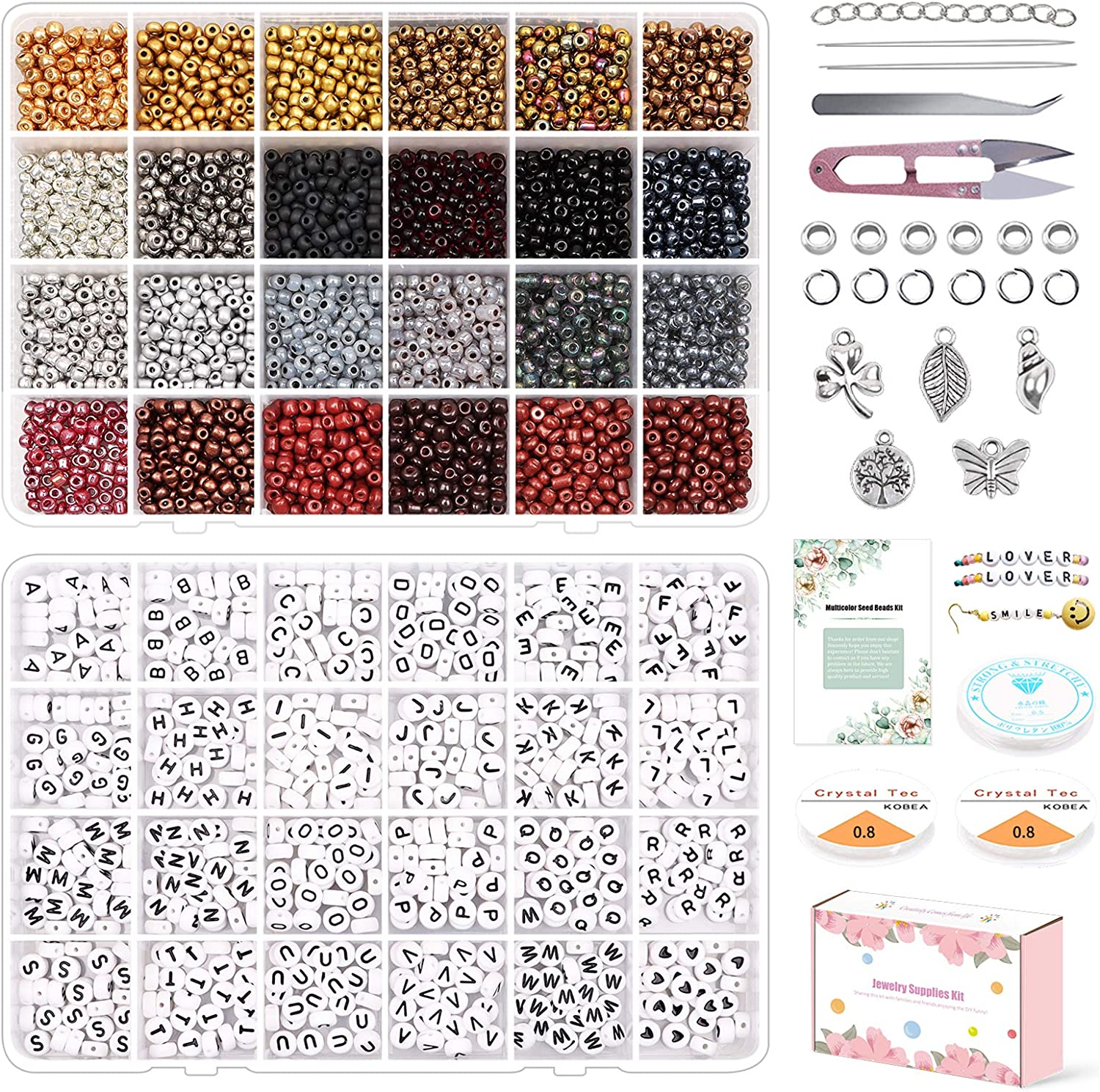 7200pcs Fixed price for sale 4mm Glass Seed Beads Kit 24 Multicolor Pony B Small Manufacturer OFFicial shop