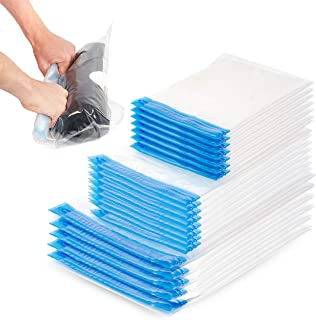 comprar comparacion 20 Bolsas de Almacenamiento al Vacío de Compresión (S M L)| Resistente y Fácil de Usar, Reutilizable, Impermeable| Sin Nec...