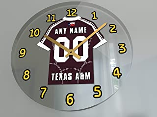FanPlastic College Football - Personalized Football Wall Clocks - Any Name, Any Number, Any Team !!