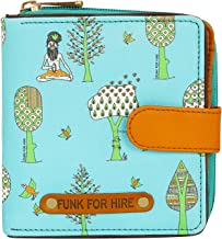 Funk For Hire Women Printed Vegan Leather small square wallet