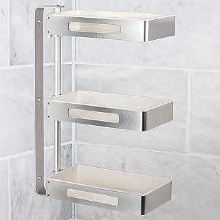 ONVAYA® Étagère pivotante à 3 niveaux - Idéale comme étagère de cuisine, étagère à épices ou étagère de salle de bain - Sa...